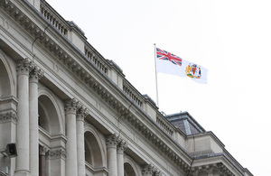 British Antarctic Territory flag to fly above Foreign and Commonwealth Office on 23 June