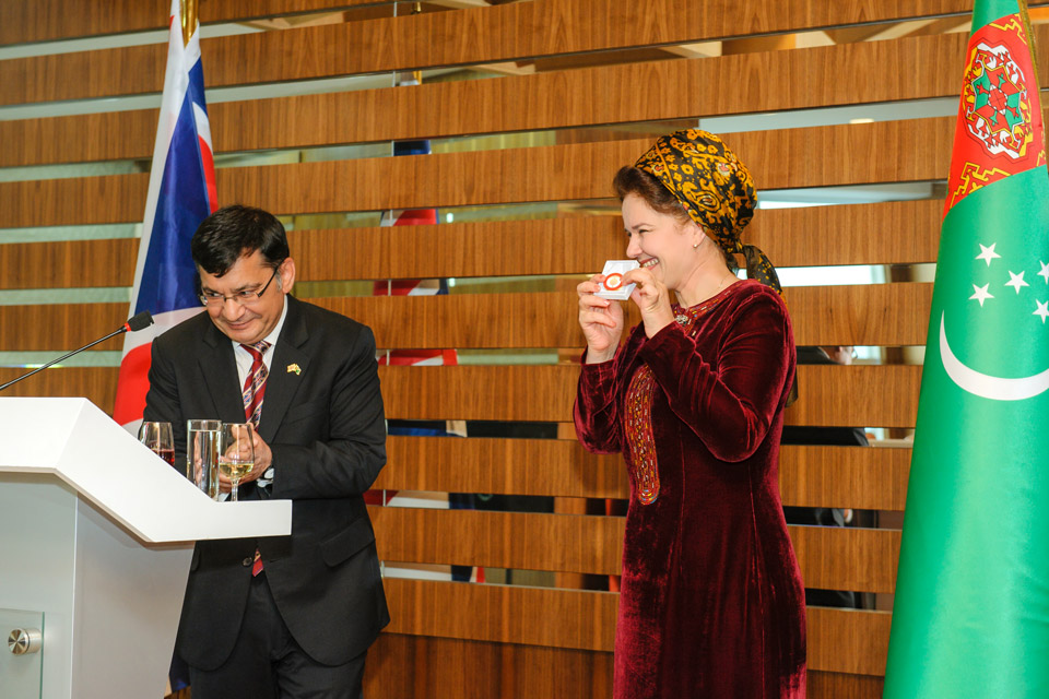 British Ambassador and Turkmen Vice Premier