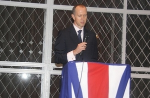 Ambassador Graham Zebedee delivering his speech