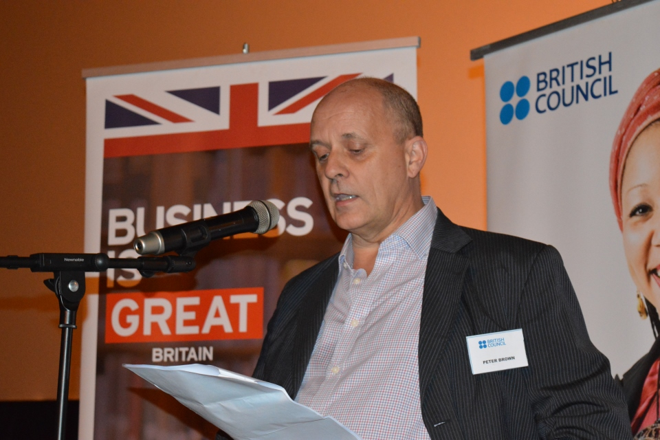 British Council's Peter Brown
