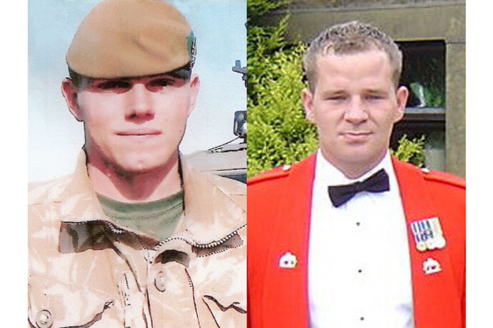 Corporal Liam Riley and Lance Corporal Graham Shaw