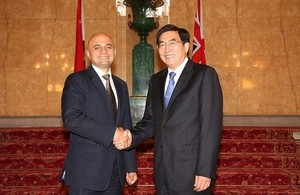Business Secretary Sajid Javid with Mr GUO Jinlong, Secretary of the Beijing Municipal Committee and Member of the Political Bureau