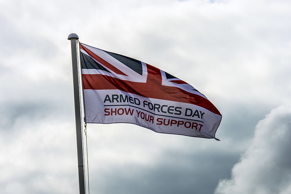 The Armed Forces Day Flag.