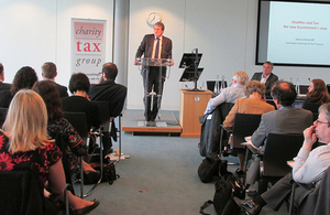 Exchequer Secretary addressing Charity Tax Group