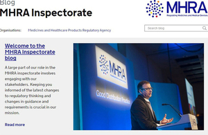An MHRA inspector at an event