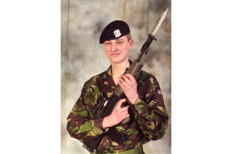 Rifleman Liam Maughan of 3rd Battalion The Rifles (All rights reserved.)