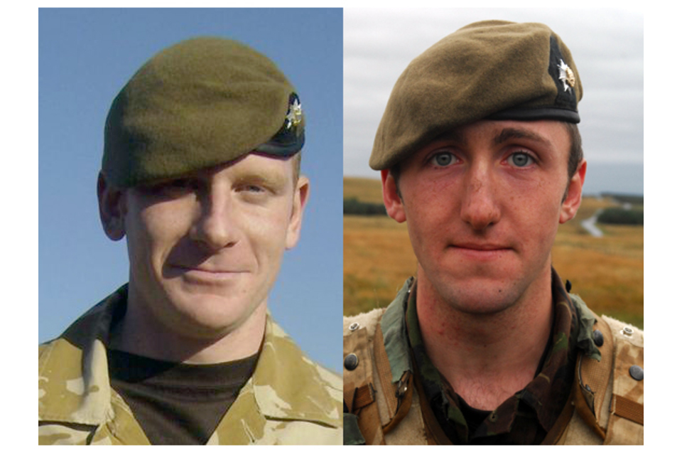 Lance Corporal Scott Hardy and Private James Grigg (All rights reserved.)