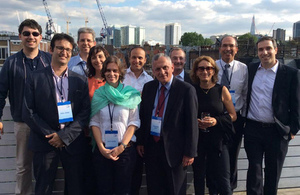 Entrepreneurs and organisers of the Israeli Digital Health mission to the UK, in London.