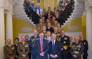 Defence Secretary Michael Fallon hosts a reception to thank the UK's Reservists and their employers