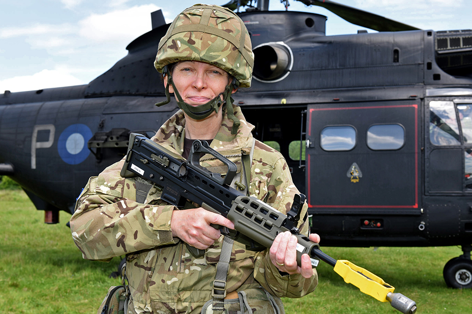 Housing association Resources Director and reservist Captain Kim Humberstone [Crown copyright]