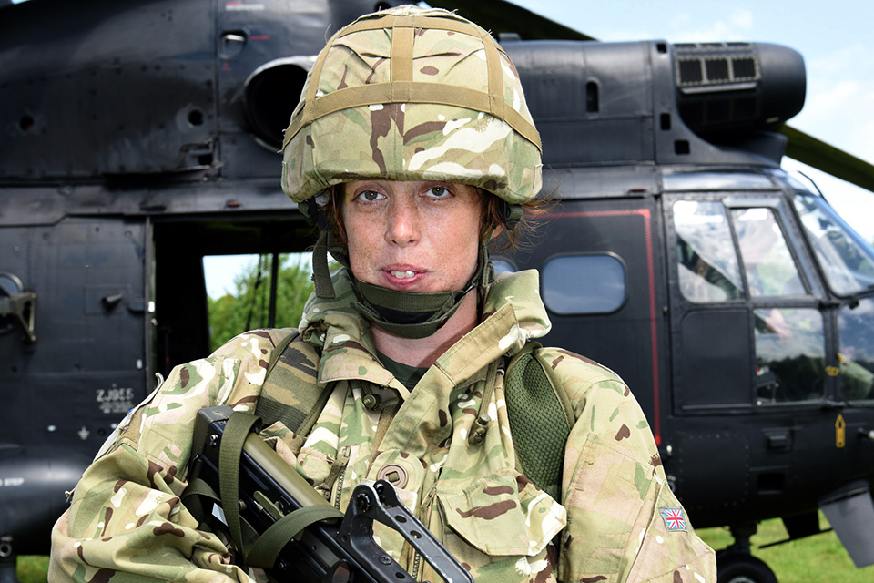 Civil servant and reservist Lance Corporal Cara King [Crown Copyright]