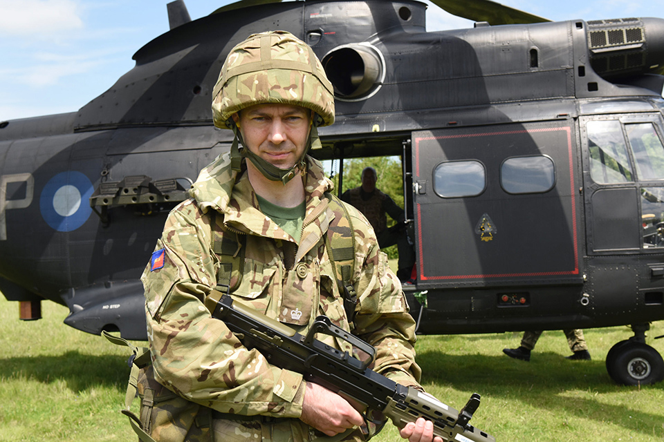 City of London solicitor and reservist Major Alastair Moss [Crown Copyright]