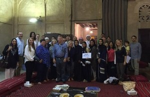 Embassy staff at the Sheikh Mohammed Bin Rashid Centre for Cultural Understanding