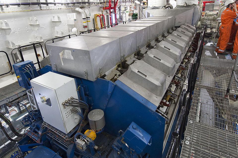 Diesel generator on board HMS Queen Elizabeth