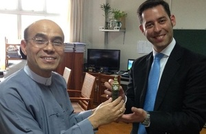 DDG Hla Maung Thein with Dave Shaw of Ricardo-AEA (and Big Ben)