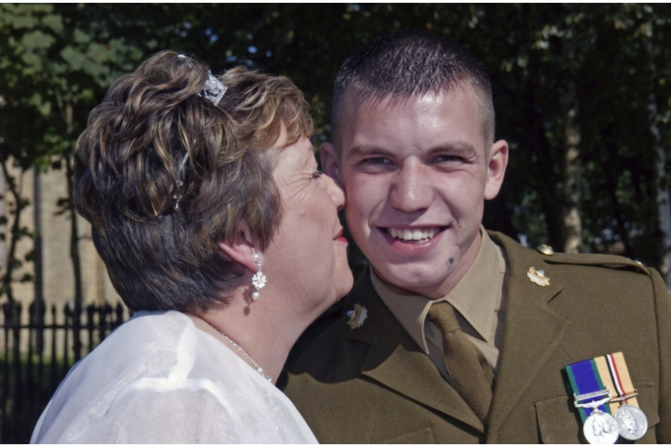 Corporal Harvey Holmes and mother Beverley (All rights reserved.)