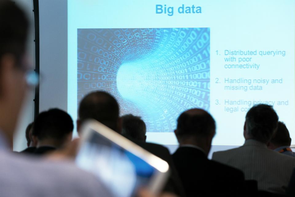 Audience viewing big data slide
