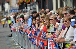 People line the streets of Guildford to celebrate Armed Forces Day