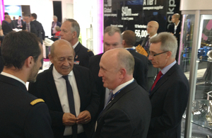 Stephen Phipson, Head of UKTI DSO meets French Defence Minister.