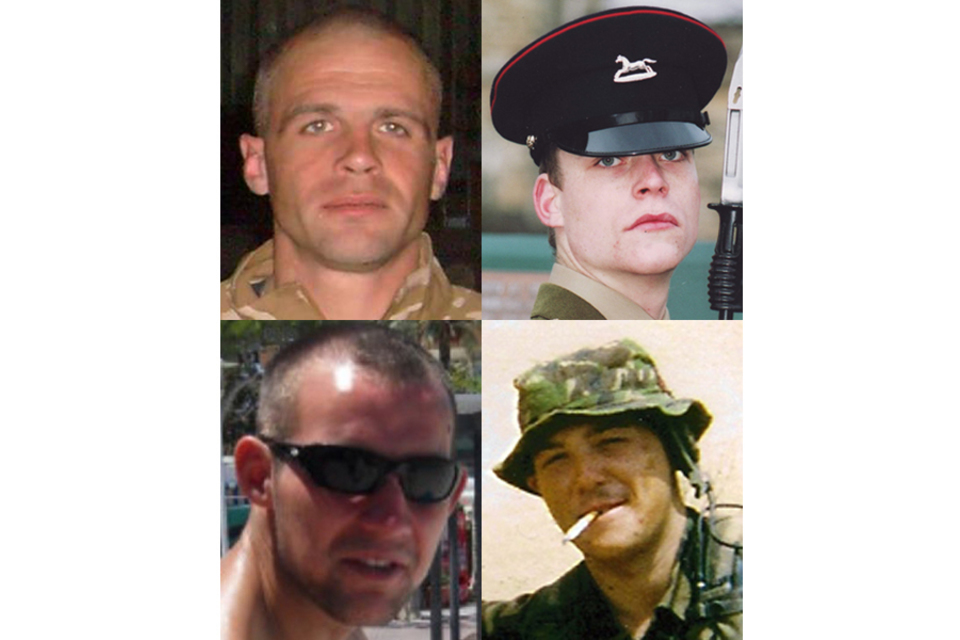 CSgt Martyn Horton (top left), LCpl David Ramsden (top right), Private Douglas Halliday (bottom left) and Private Alex Isaac (bottom right) (All rights reserved.)