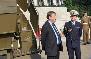 John Whittingdale at the Guards Memorial