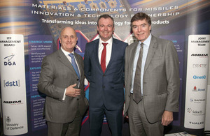 Philip Dunne MP with Stephen Phipson, Head of UKTI DSO and Dave Armstrong, MBDA UK Managing Director