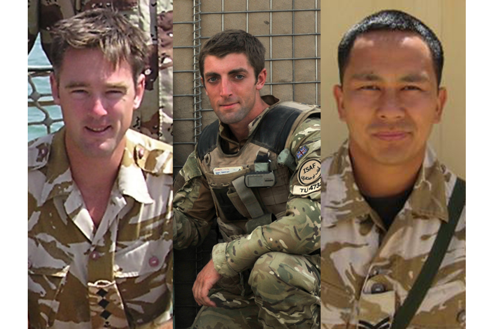 From left: Major James Joshua Bowman, Lieutenant Neal Turkington and Corporal Arjun Purja Pun (All rights reserved.)
