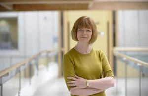 Dr Ruth McKernan on walkway