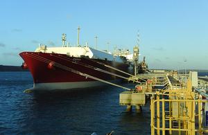 LNG Tanker Zarga alongside
