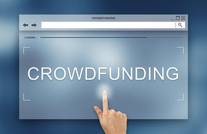 Crowd funding web page
