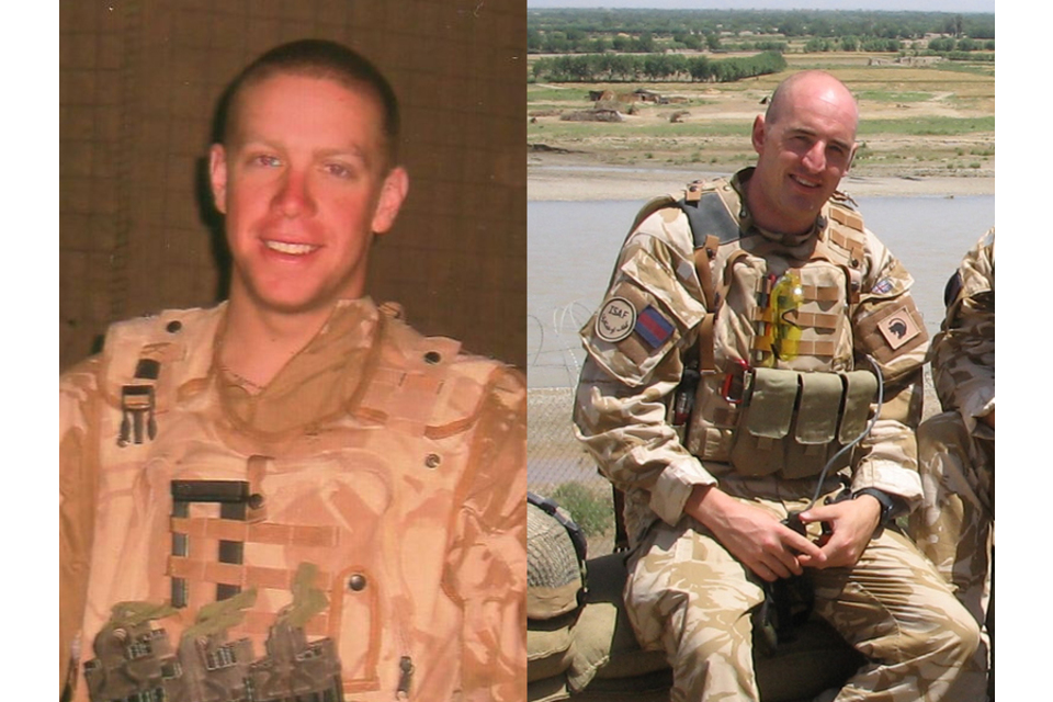 Corporal Matthew James Stenton (left) and Lance Corporal Stephen Daniel Monkhouse (All rights reserved.)