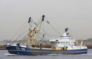 Beam trawler Margriet