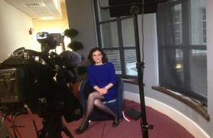SofS Villiers conducts media interview with BBC