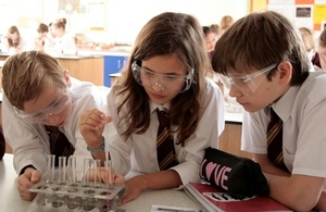 Pupils in chemistry lesson