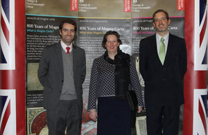 Ambassador Fiona Clouder with authorities from Gabriela Mistral University.