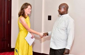 DHC Mary Shockledge and HE President Yoweri Museveni