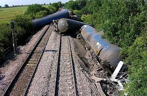 Image showing derailment near Langworth