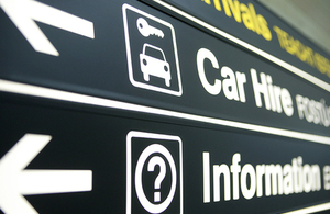 Car hire sign