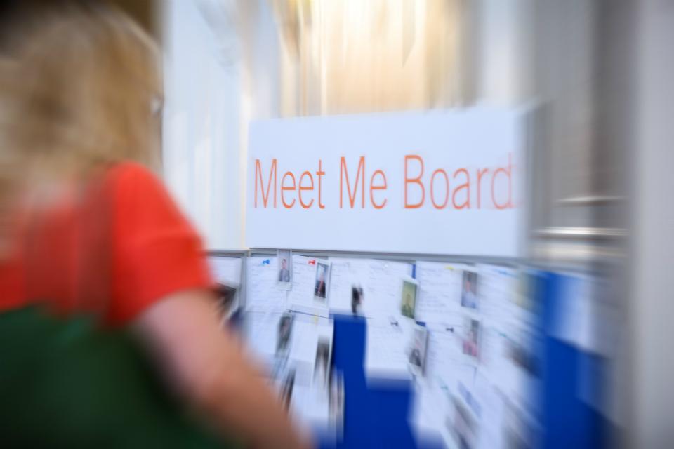 View of Meet Me Board.