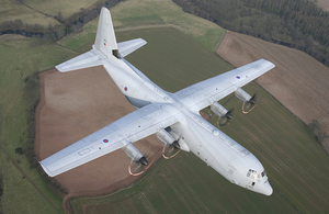 An RAF C-130J Hercules