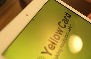 Yellow Card smartphone app on ipad