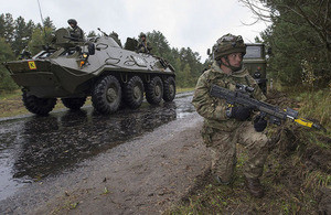 British soldiers on Exercise Rapid Trident 2014