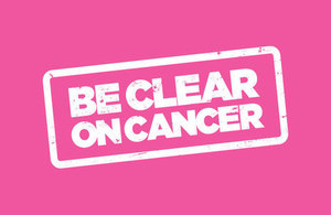 Be Clear on Cancer campaign logo