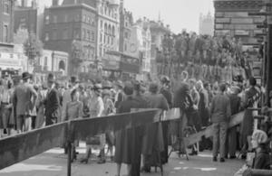 Celebrations in London on VJ Day 1945
