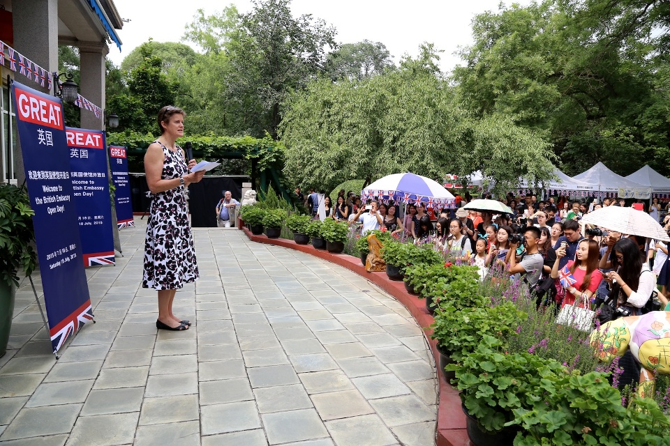 British Ambassador Barbara Woodward delivered a speech at the Open Day.
