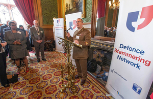Warrant Officer Jimmy Lang at the Defence Stammering Network