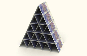 Pyramid of cash