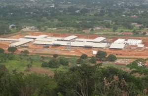 A hospital being built in Ghana