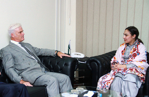 Desmond Swayne MP, Minister of State for International Development met Ms. Marvi Memon, Member of National Assembly of Pakistan.