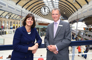 Claire Perry with Tim Hedley-Jones of Virgin Trains East Coast